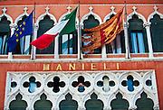 Facade of Danieli Hotel in Venice, Italy.