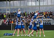 Cheerleaderne fra FCH Diamonds ved indvielsen af Helsingør Kommunes nye stadion på Gl. Hellebækvej i Helsingør den 8. august 2019 (Foto: Claus Birch)