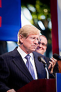 Ted Olson, one of the lawyers of the plaintiffs in support of Gay Marriage, addresses the crowd at a rally after Prop 8 was overturned.