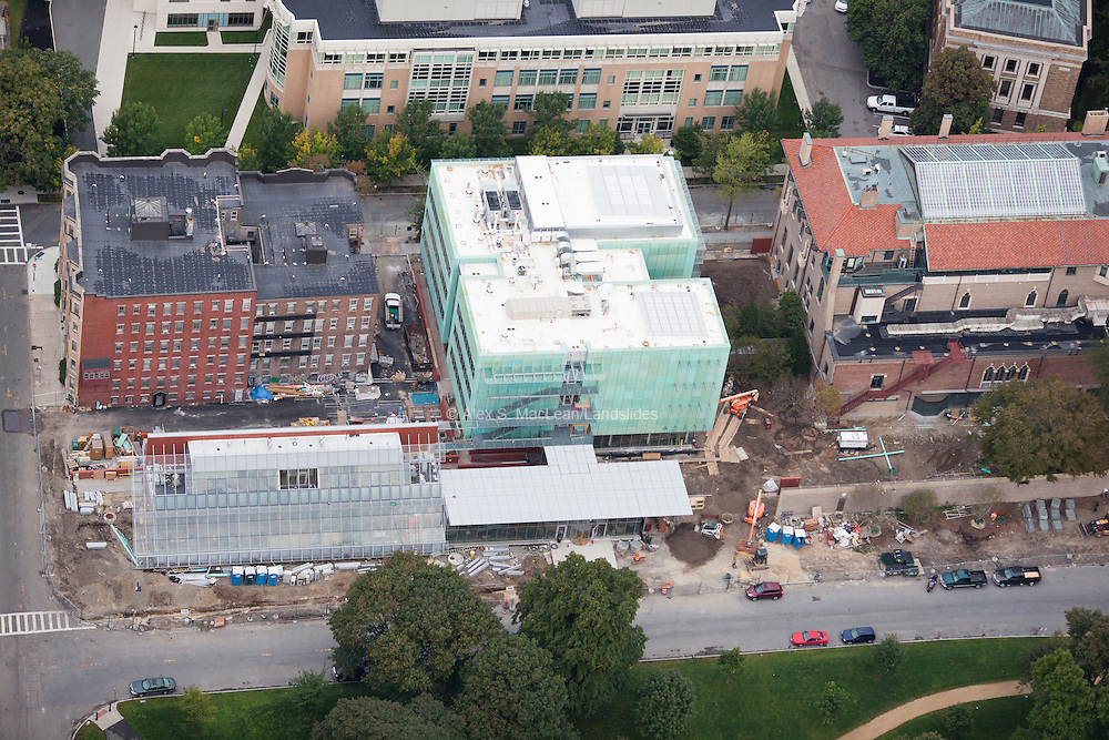 Gardner Museum during construction in September 2011