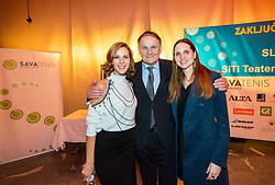 Nusa Lesar, Marko Umberger and Eva Rola during Slovenian Tennis personality of the year 2017 annual awards presented by Slovene Tennis Association Tenis Slovenija, on November 29, 2017 in Siti Teater, Ljubljana, Slovenia. Photo by Vid Ponikvar / Sportida