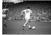 The All Ireland Senior Football Final.1982.19.09.1982.09.19.1982.19th September 1982..The senior final was contested between Offaly and Kerry. Offaly won the title by the narrowest of margins 1.15 to 17 points..Kerry forward Spillane(11) and Offaly defender Lowry(6) race for possession of the ball.
