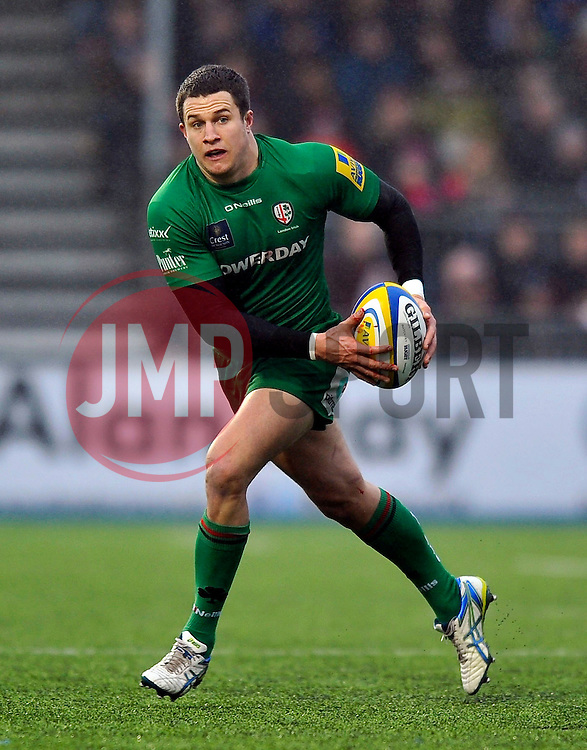 Fergus Mulchrone of London Irish in possession - Photo mandatory by-line: Patrick Khachfe/JMP - Mobile: 07966 386802 03/01/2015 - SPORT - RUGBY UNION - London - Allianz Park - Saracens v London Irish - Aviva Premiership