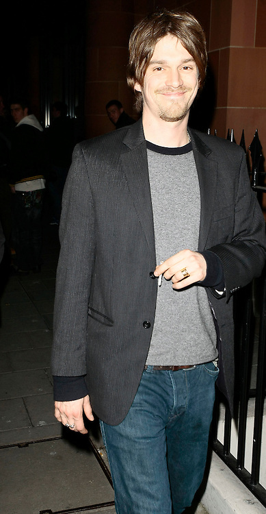 06.MARCH.2010 - LONDON<br /> <br /> JESSE WOOD LEAVING CIPRIANI'S RESTAURANT IN MAYFAIR AFTER HAVING DINNER WITH DAD RONNIE WOOD AND HIS GIRLFRIEND ANA ARAUJO.<br /> <br /> BYLINE: EDBIMAGEARCHIVE.COM<br /> <br /> *THIS IMAGE IS STRICTLY FOR UK NEWSPAPERS AND MAGAZINES ONLY*<br /> *FOR WORLD WIDE SALES AND WEB USE PLEASE CONTACT EDBIMAGEARCHIVE - 0208 954 5968*