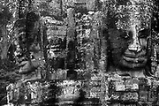 Cambodia.<br />Within the walls of Angkor Thom, the temple of Bayon with its enormous heads.<br />Nov. 2001