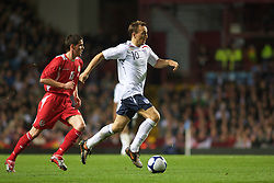 BIRMINGHAM, ENGLAND - Monday, October 13, 2008: England's Mark Noble in action against Wales during the UEFA European Under-21 Championship Play-Off 2nd Leg match at Villa Park. (Photo by Gareth Davies/Propaganda)