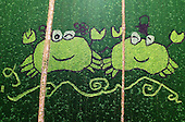 Pictures grown on rice fields