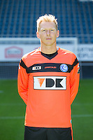 Gent's goalkeeper Brian Vandenbussche pictured during the 2015-2016 season photo shoot of Belgian first league soccer team KAA Gent, Saturday 11 July 2015 in Gent.