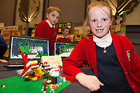Julie Earls , Scoil Bride , New Inn with her Project at the Jnr Lego League organized through schools by the Galway Education Centre at The Radisson blu hotel<br />  Photo: Andrew Downes,  xposure