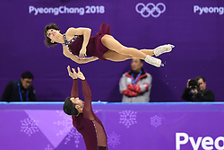 PYEONGCHANG, Feb. 15, 2018  Meagan Duhamel (Top) and Eric Radford of Canada compete during the pair skating free skating at the 2018 PyeongChang Winter Olympic Games, in Gangneung Ice Arena, South Korea, on Feb. 15, 2018. Meagan Duhamel and Eric Radford won the bronze medal of the event with 230.15 points in total. (Credit Image: © Ju Huanzong/Xinhua via ZUMA Wire)