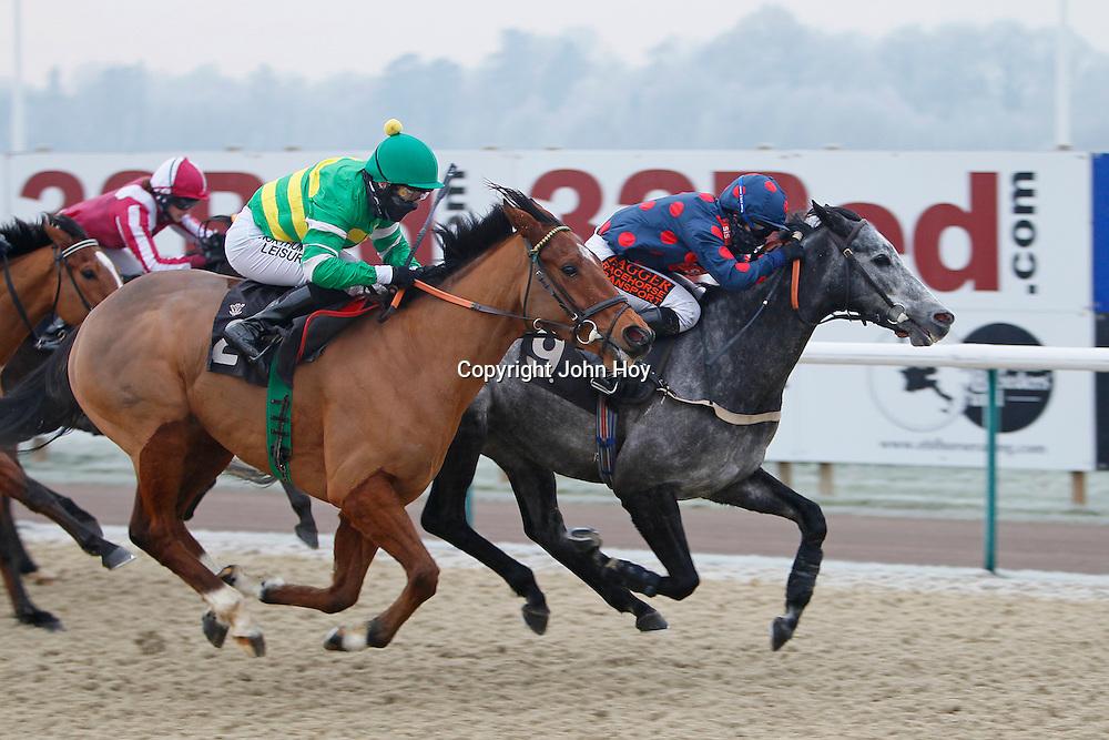 Calypso Magic and Kirsty Milczarek winning the 1.00 race