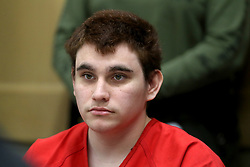 Nikolas Cruz is seen during a status check on his case at the Broward County Courthouse in Fort Lauderdale, FL, USA on Wednesday, August 15, 2018. Photo by Amy Beth Bennett/Sun Sentinel/TNS/ABACAPRESS.COM