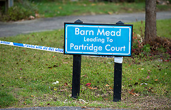 ©  London News Pictures. 15/10/2012. Harlow, UK. Barn Mead, Harlow, Essex where three children and a woman have died and three others are in hospital following a house fire. Two boys aged 13 and six, a girl aged 11 and the woman were declared dead at the scene. A nine-year-old boy and a three-year-old girl have serious burns and a man has minor burns. Photo credit : Ben Cawthra/LNP