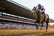 ELMONT, NY - JUNE 10: Tapwrit #2 ridden by Jose Ortiz crosses the wire first in the Belmont Stakes at Belmont Park on June 10, 2017 in Elmont, New York. (Photo by Alex Evers/Eclipse Sportswire/Getty Images)