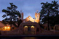 San Felipe de Neri Church at Dawn, Albuquerque, New Mexico