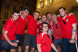LYON, FRANCE - Tuesday, July 5, 2016: Wales supporters pictured in Lyon ahead of the UEFA Euro 2016 Championship Semi-Final match against Portugal at the Stade de Lyon. (Pic by Paul Greenwood/Propaganda)