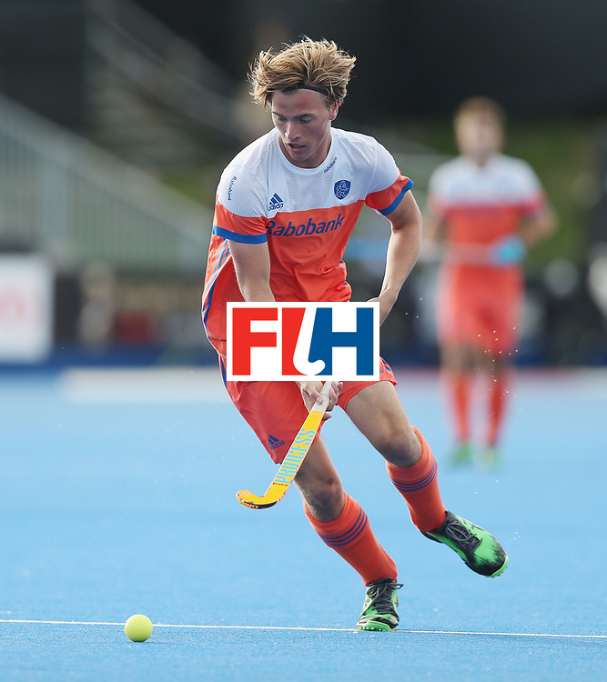 LONDON, ENGLAND - JUNE 15: Jorrit Croon of the Netherlands during the Hero Hockey World League Semi Final match between Netherlands and Pakistan at Lee Valley Hockey and Tennis Centre on June 15, 2017 in London, England.  (Photo by Alex Morton/Getty Images)