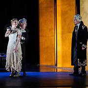 Pacific Music Works and UW School of Music production of Magic Flute. Pamina and Monostatos.