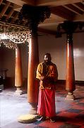 Hindu priest at Kovil in Sea Street. Colombo.