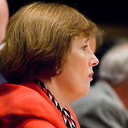 """Commission member Jamie Gorelick. Commission staffers present Staff Statement No. 15, """"Overview of the Enemy."""" The 9/11 Commission's 12th public hearing on """"The 9/11 Plot"""" and """"National Crisis Management"""" was held June 16-17, 2004, in Washington, DC."""