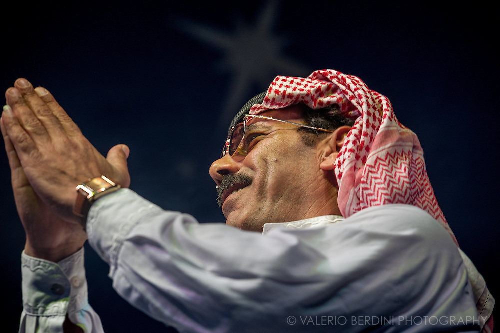 Omar Souleyman at Field Day 2011. Victoria Park in London.