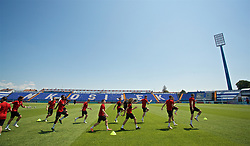 OSIJEK, CROATIA - Friday, June 7, 2019: Wales players during a training session at Stadion Gradski vrt ahead of the UEFA Euro 2020 Qualifying Group E match against Croatia. (Pic by David Rawcliffe/Propaganda)