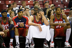 November 27, 2009; Sacramento, CA, USA;  New Jersey Nets center Josh Boone (2) on the bench during the fourth quarter against the Sacramento Kings at the ARCO Arena. Sacramento defeated New Jersey 109-96.