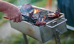 08.07.2017, Red Bull Ring, Spielberg, AUT, FIA, Formel 1, Grosser Preis von Österreich, Qualifying, im Bild Campingplatz, Fan beim Grillen // Campsite a Fan makes a barbecue After the Qualifying of the Austrian FIA Formula One Grand Prix at the Red Bull Ring in Spielberg, Austria on 2017/07/08. EXPA Pictures © 2017, PhotoCredit: EXPA/ JFK