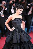 Actress Audrey Tautou at Venus in Fur - La Venus A La Fourrure film gala screening at the Cannes Film Festival Saturday 26th May May 2013