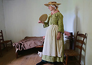 Docent, Bedroom, Colonial Plantation, Ridley Creek State Park, Delaware County, PA