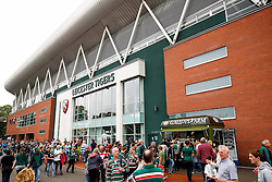 A General view outside Welford Road - Photo mandatory by-line: Rogan Thomson/JMP - 07966 386802 - 06/09/2014 - SPORT - RUGBY UNION - Leicester, England - Welford Road Stadium - Leicester Tigers v Newcastle Falcons - Aviva Premiership.