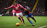 Pape Souare looks to beat Adam Smith during the Barclays Premier League match between Crystal Palace and Bournemouth at Selhurst Park, London, England on 2 February 2016. Photo by Michael Hulf.