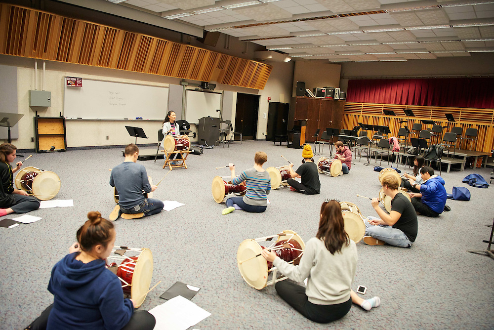 -UWL UW-L UW-La Crosse University of Wisconsin-La Crosse; Band; Candid; Center for the ArtsCFA; day; Group; Inside; November; Student students