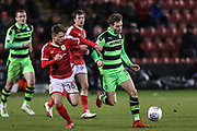 Forest Green Rovers Alex Bray(31) runs forward during the EFL Sky Bet League 2 match between Crewe Alexandra and Forest Green Rovers at Alexandra Stadium, Crewe, England on 20 March 2018. Picture by Shane Healey.