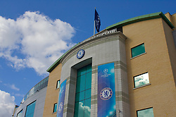 LONDON, ENGLAND - Wednesday, May 6, 2009: Chelsea fly the UFEA Champions League flag from their stadium before the Semi-Final 2nd Leg match against Barcelona at Stamford Bridge. (Photo by Carlo Baroncini/Propaganda)