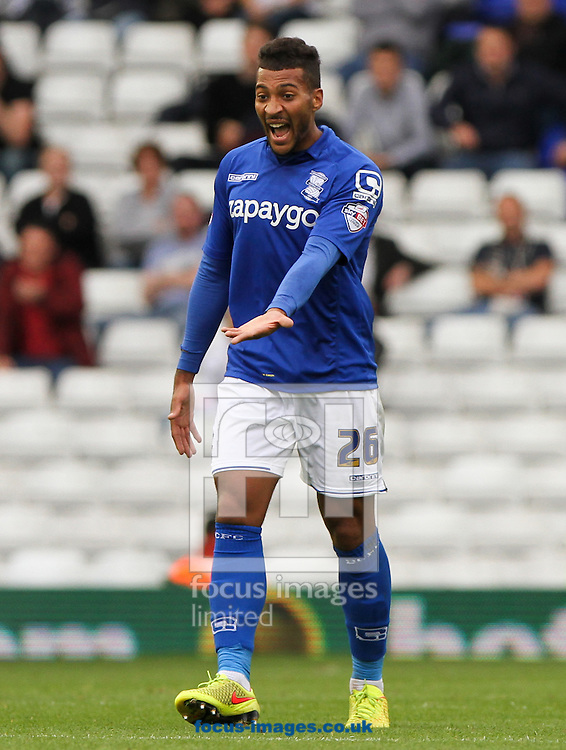 David Davis of Birmingham City shouts during the Sky Bet Championship match at St Andrews, Birmingham<br /> Picture by Tom Smith/Focus Images Ltd 07545141164<br /> 27/09/2014