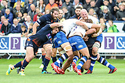 Bath were dominant midfield during the Rugby Friendly match between Edinburgh Rugby and Bath Rugby at Meggetland Sports Compex, Edinburgh, Scotland on 17 August 2018.