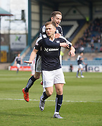 Dundee&rsquo;s Greg Stewart is congraulated by Nick Ross  after scoring the opener - Dundee v Ross County - Ladbrokes Premiership at Dens Park<br /> <br />  - &copy; David Young - www.davidyoungphoto.co.uk - email: davidyoungphoto@gmail.com