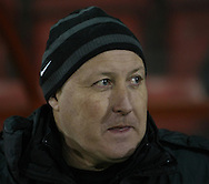 Picture by David Horn/Focus Images Ltd +44 7545 970036.15/01/2013.Russell Slade Manager of Leyton Orient looks on during the The FA Cup match at the Matchroom Stadium, London.