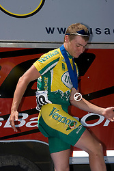 Will Dugan / University of Vermont<br /> <br /> The 2007 USA Cycling Collegiate Road Championship criterium was held in downtown Lawrence, Kansas on May 13, 2007.