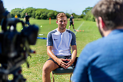 Herbie Kane of Liverpool is interviewed by Steve Cotton and filmed by Rob Latham and Rogan Thomson - Ryan Hiscott/JMP - 26/06/18 - Hallen - Bristol, England - Behind the Scenes Footage of Back 2 Action Interviews