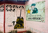 Revolutionary signs in Moron, Ciego de Avila, Cuba.