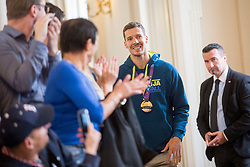 "Goran Dragic during award ceremony ""Zlati red za zasluge"" for Basketball association of Slovenia on the day of statehood in the presidential palace, on June 25, 2018 in Ljubljana, Slovenia. Photo by Urban Urbanc / Sportida"