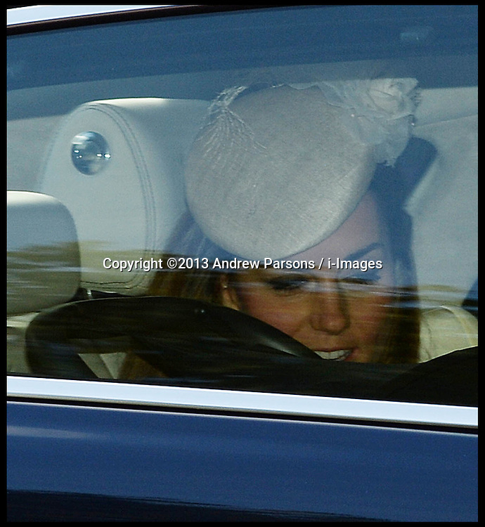 The Duke and Duchess Of Cambridge arriving for their son's  Prince George's  Christening at St.James's Palace in London, Wednesday, 23rd October 2013. Picture by Andrew Parsons / i-Images