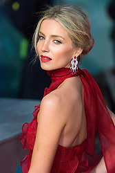 © Licensed to London News Pictures. 14/02/2016. London, UK.  ANNABELLE WALLIS arrives on the red carpet at the EE British Academy Film Awards 2016 Photo credit: Ray Tang/LNP