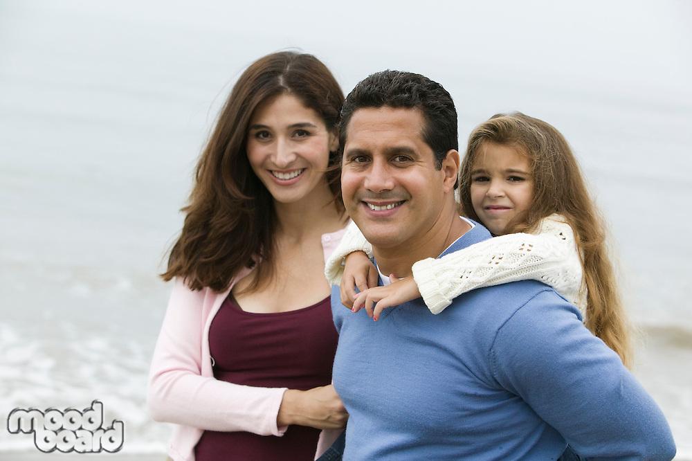 Family on beach, portrait