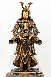 © Licensed to London News Pictures. 26/02/2016. London, UK. A Japanese gilt laquered Guardian figure from the Meiji period, acquired by the Duchess'grandfather.  Property from the personal collection of Deborah, Duchess of Devonshire (1920-2014), will be offered for sale at Sotheby's on 2 March,  The youngest of the Mitford Sisters, the Duchess was the chatelaine of Chatsworth, one of England's greatest stately homes, and at the heart of British rural, cultural and political life.  The proceeds of the items in the eclectic collection are expected to realise £500,000 to £700,000. Photo credit : Stephen Chung/LNP