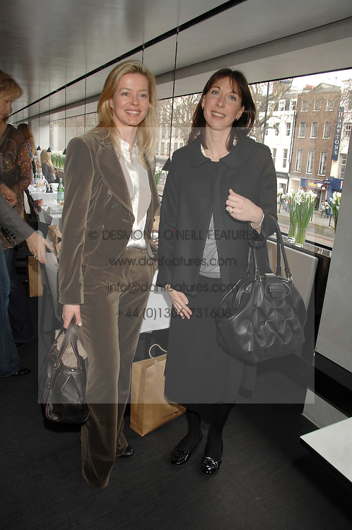 Left to right, LADY HELEN TAYLOR and SAMANTHA CAMERON at a lunch to celebrate the launch of the Top Tips for Girls website (toptips.com) founded by Kate Reardon held at Armani, Brompton Road, London on 5th March 2007.<br /><br />NON EXCLUSIVE - WORLD RIGHTS
