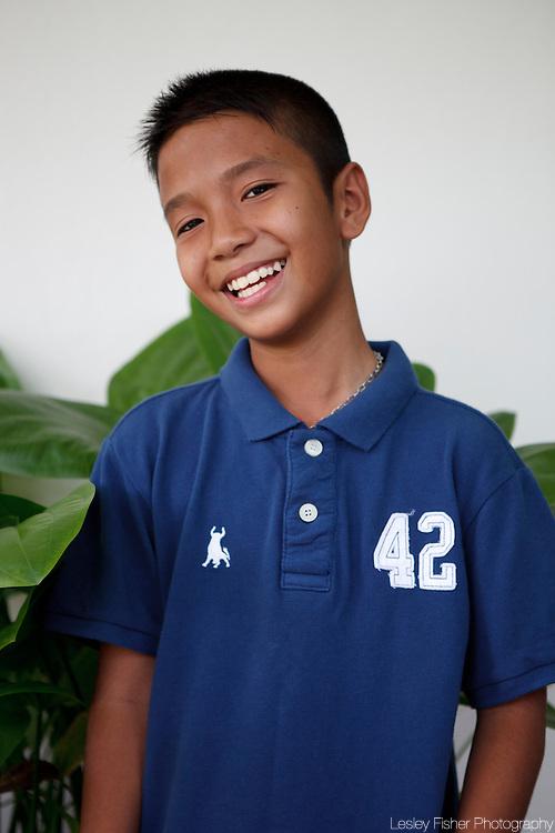 Portrait of a Thai boy