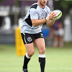 DURBAN, SOUTH AFRICA - Francois Steyn during the Cell C Sharks training session at Growthpoint Kings Par in Durban, South Africa. (Photo by Steve Haag)